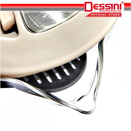 DESSINI ITALY Glass LED Light Electric Kettle Automatic Cut Off Boiler Jug Teapot Cerek (1.8L)