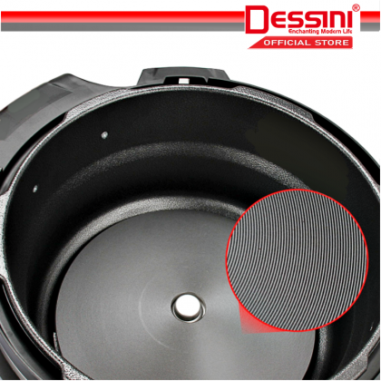 DESSINI ITALY 10IN1 6L Electric Digital Pressure Cooker Non-stick Stainless Steel Inner Pot Rice Cooker Steamer