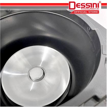 DESSINI ITALY 5L Electric Digital Rice Cooker Non-stick Stainless Steel Inner Pot Steamer Pengukus Periuk Nasi