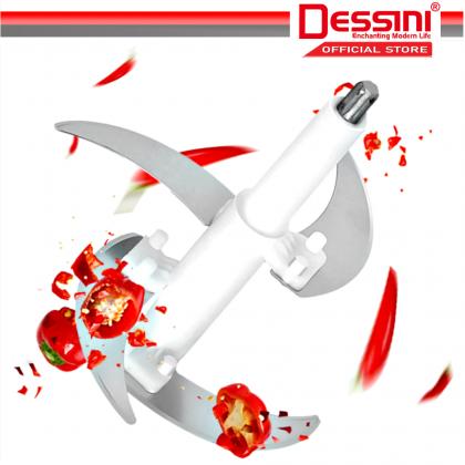 DESSINI ITALY Capsule Cutter Spin Chopper Blender Grinder Mixer Mincer Masher Shredder Juicer / Pengisar Pengadun (2L)