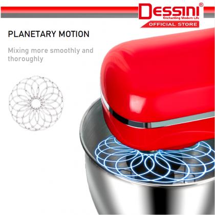 DESSINI ITALY 6 Speed Electric Stand Mixer Egg Beater Blender Grinder Dough Whisk Mesin 6.2L Bowl Pengadun Bancuh Telur