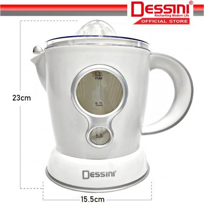 DESSINI ITALY Electric Citrus Orange Juicer Squeezer Machine Pulp Control Juice Maker Extractor (1.2L)